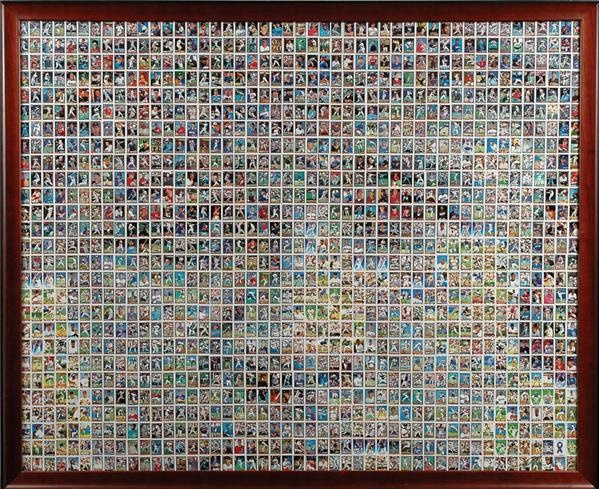 Babe Ruth Photo Made Up of Micro Baseball Cards LE 2/166