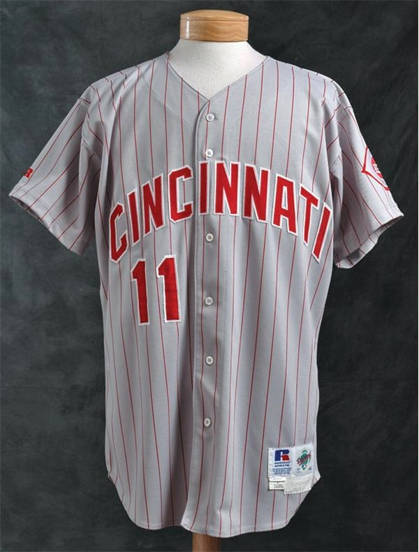 1995 Barry Larkin Game Worn Jersey-From His MVP Year