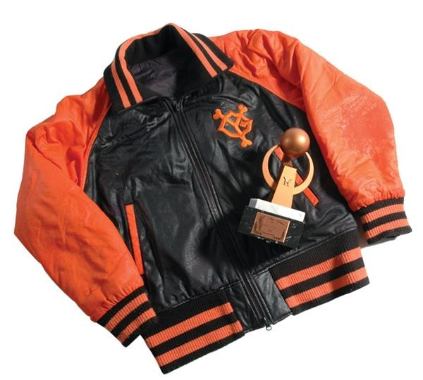 Warren Cromartie 1985 Japan All Star Award and 1989 Giants Game Used Jacket