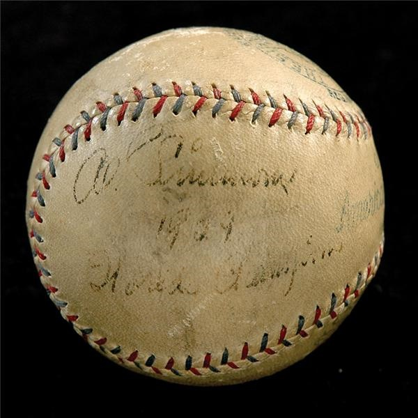 Al Simmons Single Signed Official Baseball with 1929 World Champions Inscription