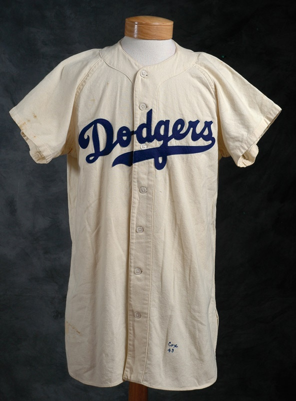 1949 Billy Cox Game Worn Brooklyn Dodgers Jersey