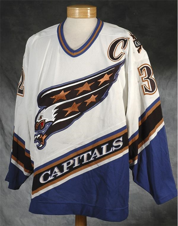 finest selection 40755 bcbaf 1995-1996 Dale Hunter Washington Capitals Game Worn Jersey