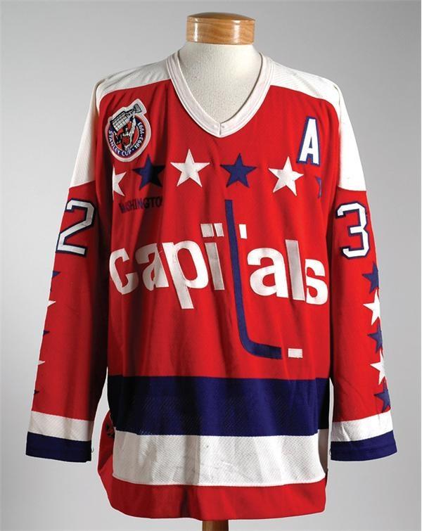 buy popular a3559 a239f 1992-1993 Dale Hunter Washington Capitals Game Worn Jersey
