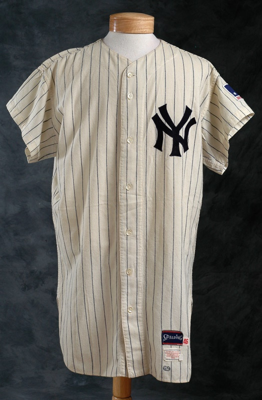 super popular 5dfd5 b0af8 1969 Bill Burbach Game Worn New York Yankees Jersey From ...