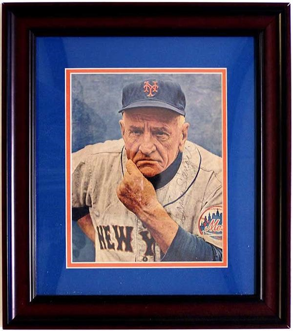 Casey Stengel Signed Color Photo.