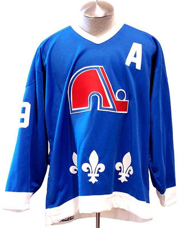 online store 670f1 5b382 Circa 1990 Joe Sakic Quebec Nordiques Game Issued Hockey Jersey