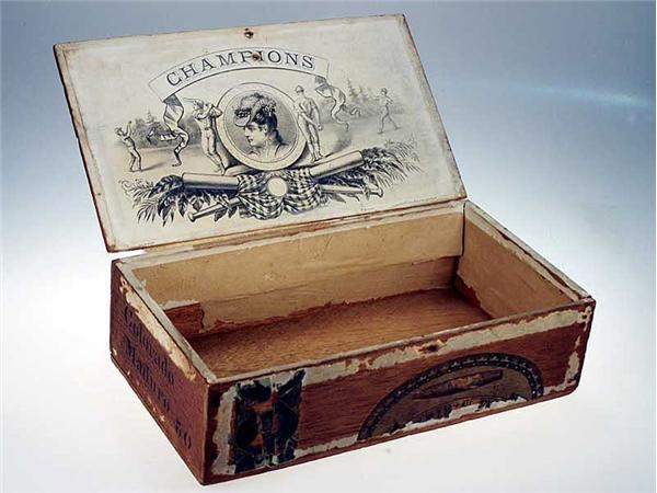 1880s Champions Baseball Cigar Box.