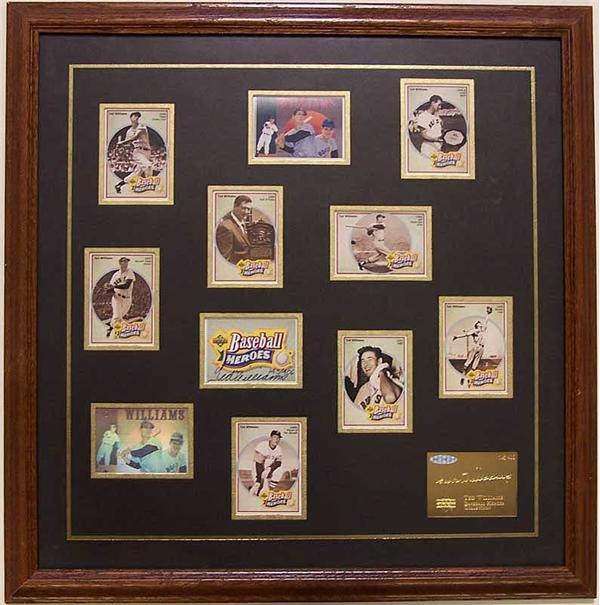 Ted Williams Signed Limited Edition Card Set UDA.