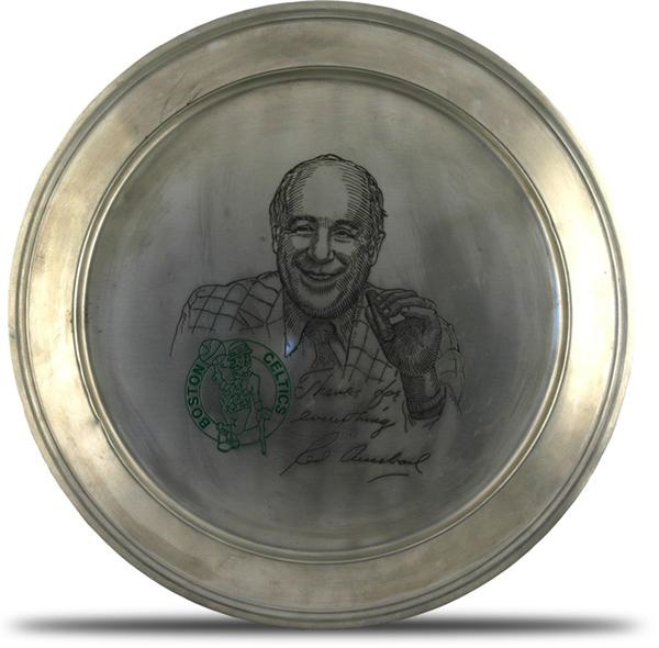 Red Auerbach Pewter Presentational Tray by Balfour