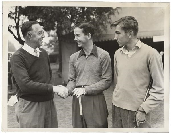 Francis Ouimet at National Amateurs Golf News Service Photo (1940)