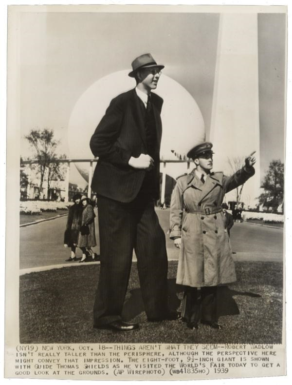Robert Wadlow, the Tallest Man Who Ever Lived, at the 1939 New York World's Fair