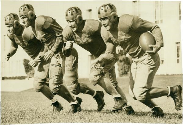 "University of California ""Thunder Team"" Backfield Football Photo(1937)"