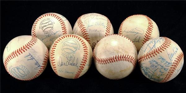 1970-80s Team Signed Baseball Collection (7)