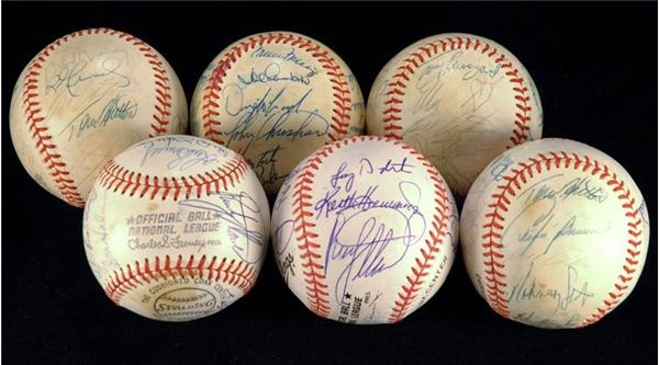 Mets and Expos Team Signed Baseballs (6)
