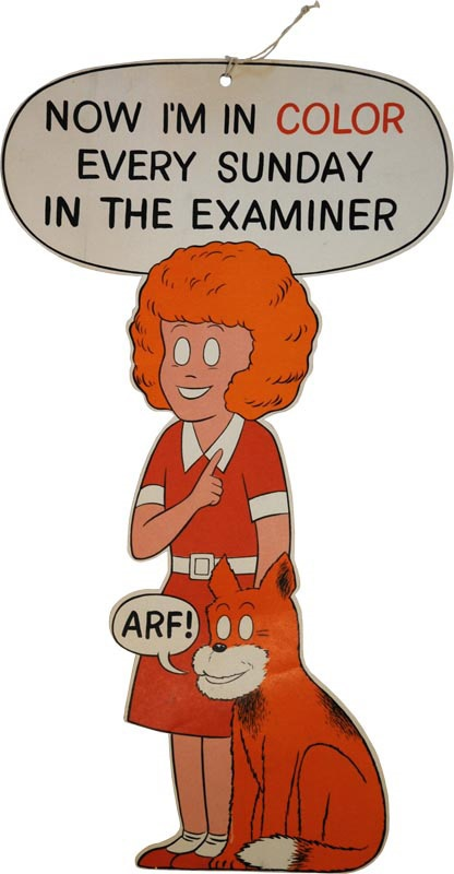 1930s Little Orphan Annie Cardboard Advertising Diecut