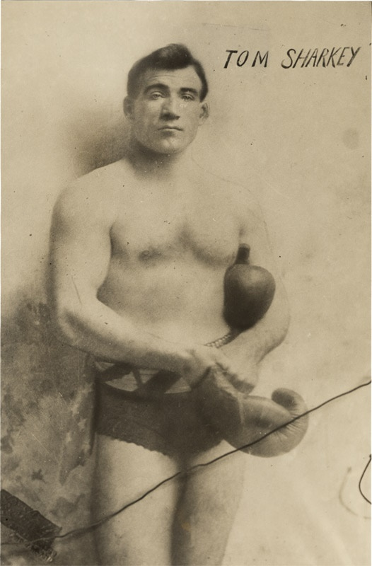 Tom Sharkey With Boxing Gloves (1937)