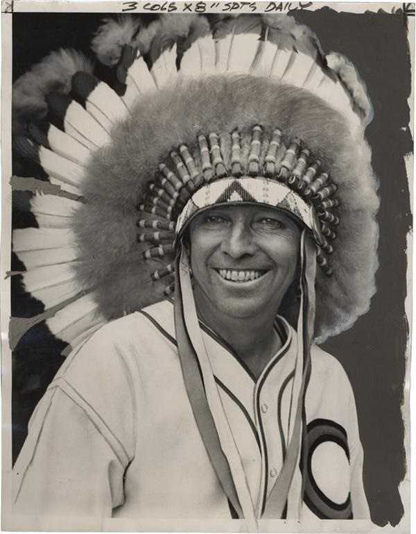 'Big Chief' Oscar Vitt of the Cleveland Indians (1938)