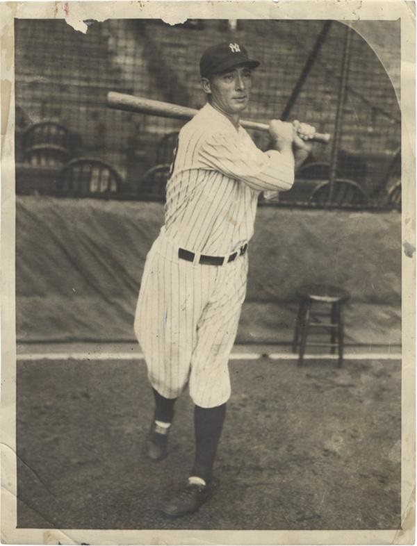 New York Yankee Baseball Tony Lazzeri News Service Photo(1932)