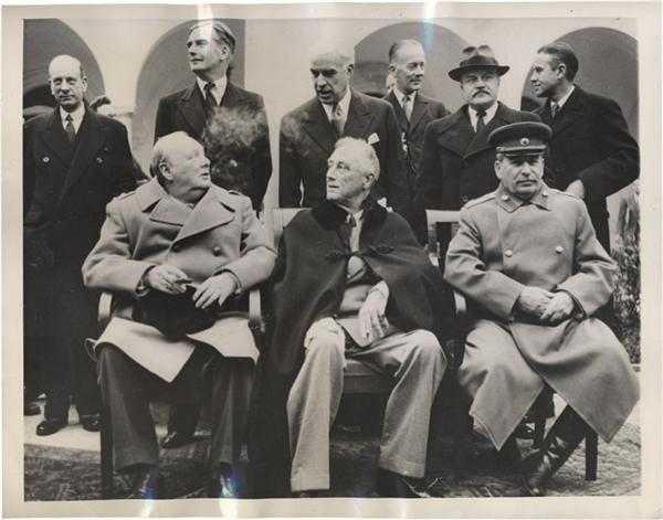 'Big Three' Gathers At Yalta News Service Photo (1945)
