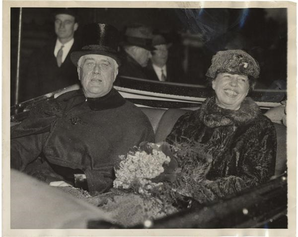 Franklin Roosevelt & Wife Photo (1937)