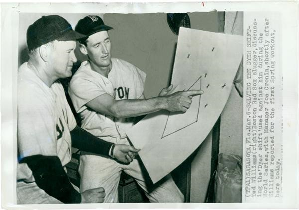Ted Williams Solving The Dyer Shift Baseball Wire Photo(1947)