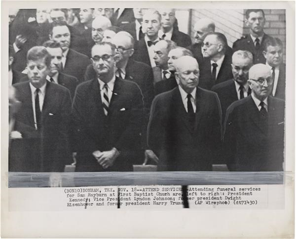 Four Presidents Wire Photo(1961)