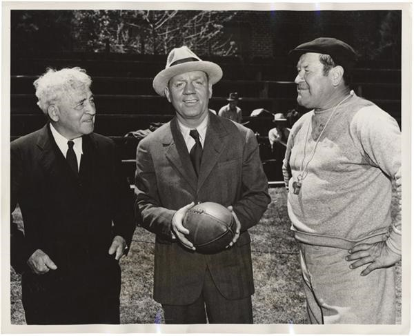 Jim Thorpe & Amos Alonzo Stagg Football News Service Photo(1940)