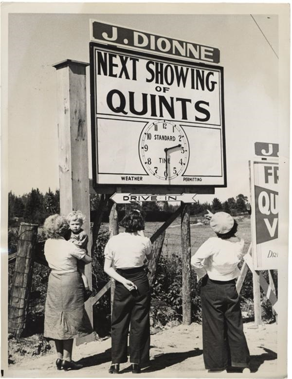 Quintland Goes Slightly Coney---Dionne Quintuplets News Service Photo(1936)