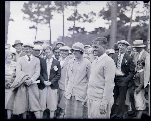 Bobby Jones & Glenn A. Collett  Glass negative 1930's