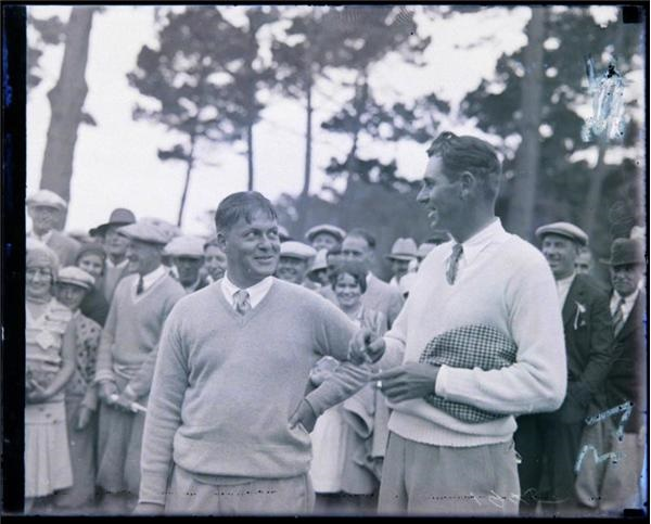 Bobby Jones & Jack Neville Glass Negative (1930's)