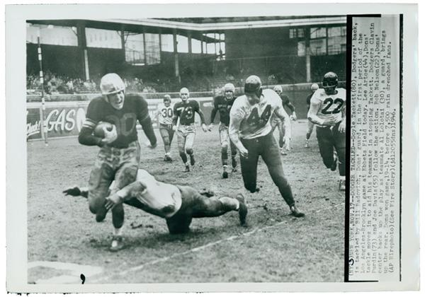 1946 First Year AAFC Football Wire Photo Lot (7)