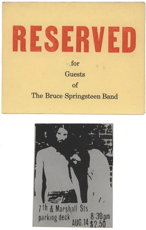 1970s Bruce Springsteen Sign and Handbill