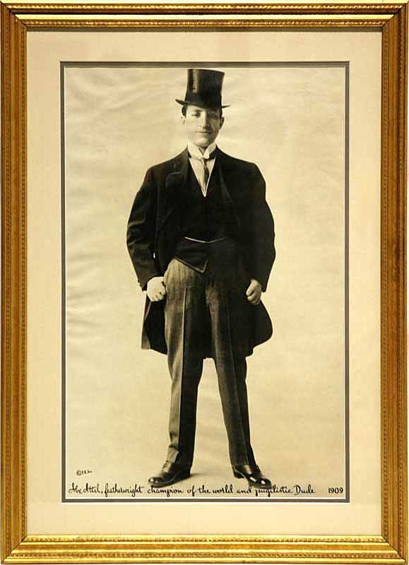 Large 1909 Abe Attell Boxing Photograph (12 x 19'')