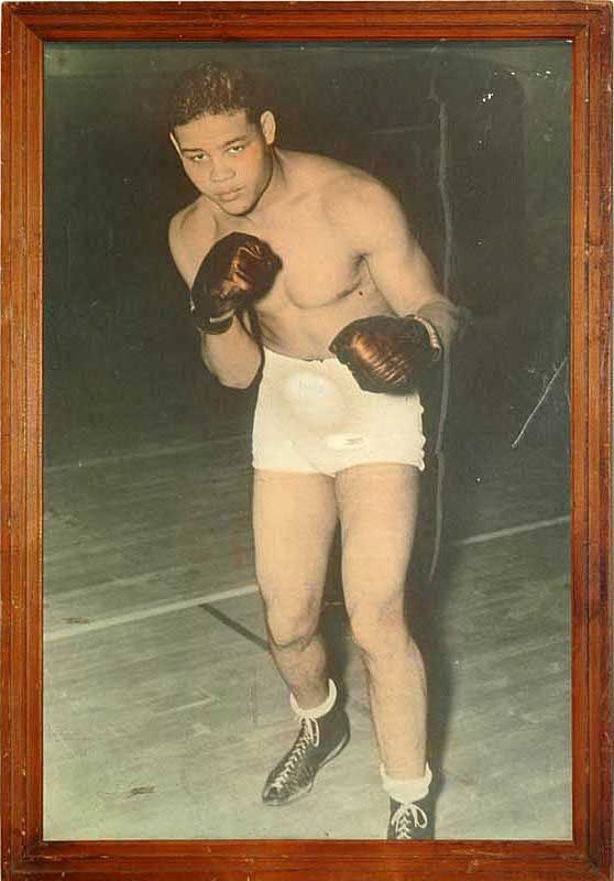 1930's Joe Louis Boxing Color Print