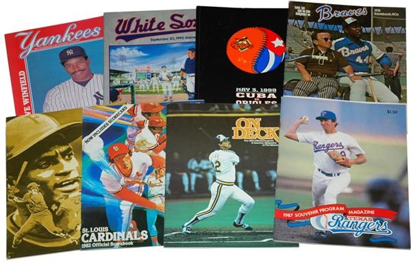 1980s Historic Milestone Baseball Programs (8)