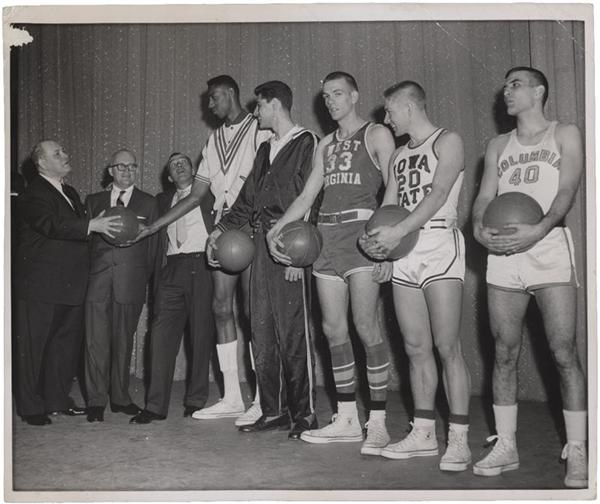 1957 Wilt Chamberlain Kansas University All-America Inscribed Photograph