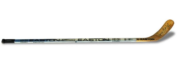1995 Wayne Gretzky Signed Game Used Easton Hockey Stick