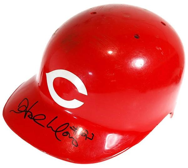 Hal Morris Game Used Cincinnati Reds Batting Helmet