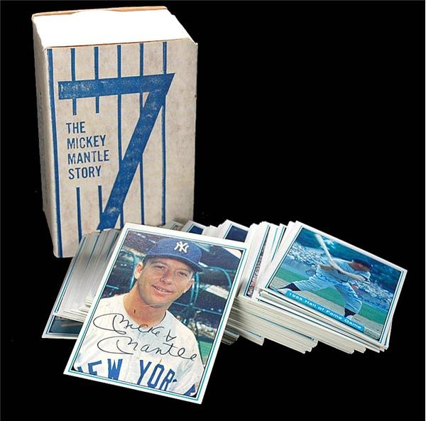 1982 Mickey Mantle Story Signed Baseball Card Set