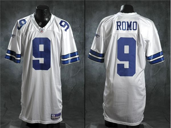 buy online e56e9 b82c3 2003 Tony Romo Dallas Cowboys Game Worn Rookie Jersey