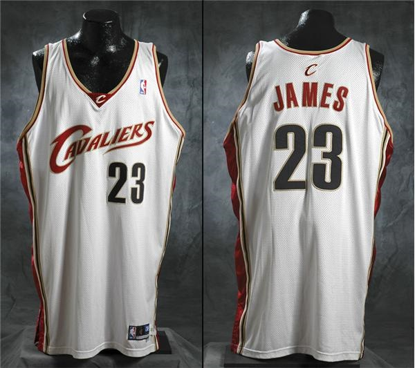 huge selection of c8d40 72d41 2003- 2004 Lebron James Cleveland Cavaliers Game Worn Jersey