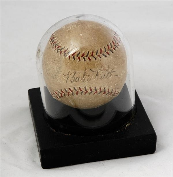 1924 Babe Ruth Single Signed Baseball