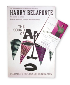 Two Harry Belafonte Original Appearance Posters