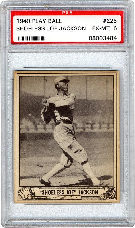 1940 Play Ball 225 Shoeless Joe Jackson Psa 6 Ex Mt