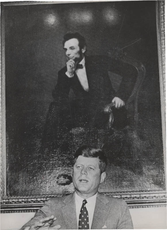 1963 JFK and Lincoln Wire Photo