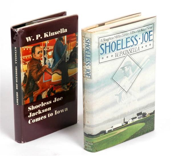 W.P Kinsella Signed 1st Edition Shoeless Joe and Shoeless Joe Jackson Comes to Iowa