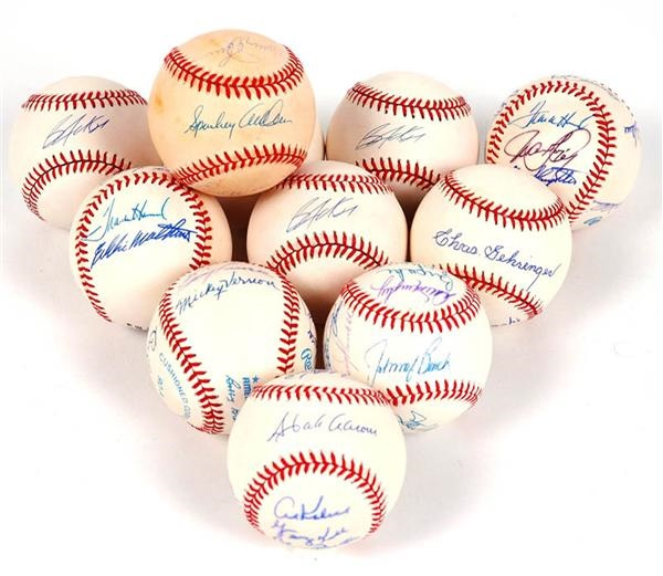 Multi-Signed and Single Signed Baseball Collection (11)