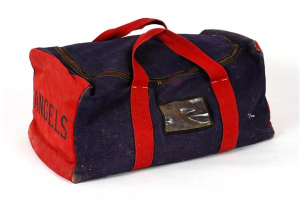 California Angels Game Used Equipment Bag