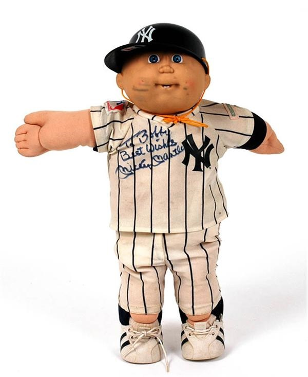Mickey Mantle Signed Cabbage Patch Doll