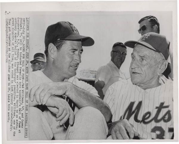 Ted Williams and Casey Stengel Photo
